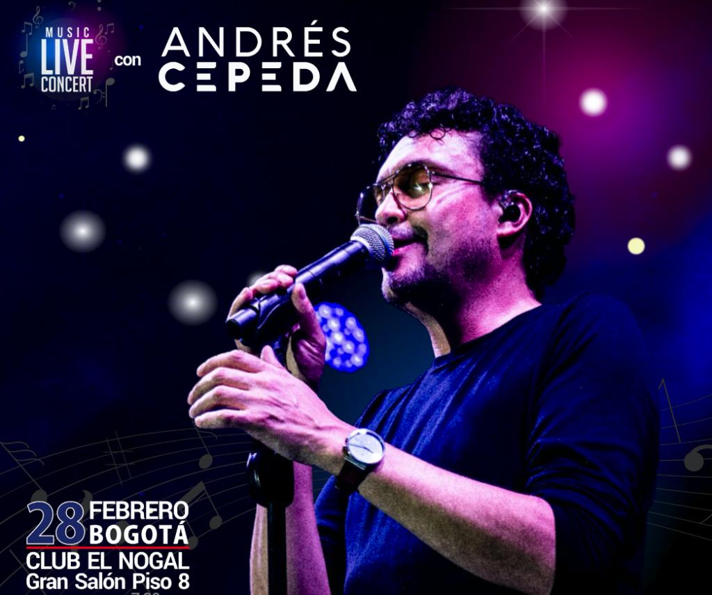 Concierto de Andrés cepeda y Subasta